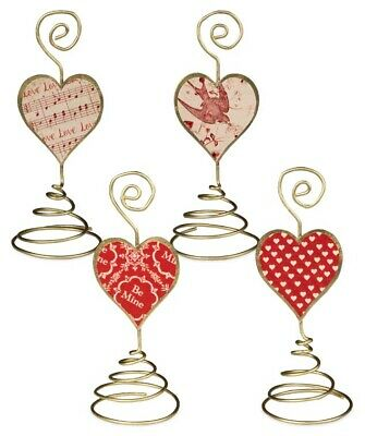 Bethany Lowe Valentines Day Placecard Holders Set/4 Hearts Be Mine Decorations