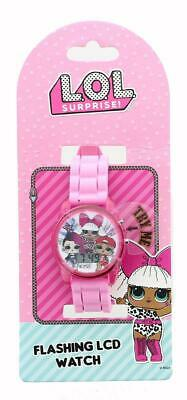 LOL Surprise Flashing LCD Watch - Pink Sports Band