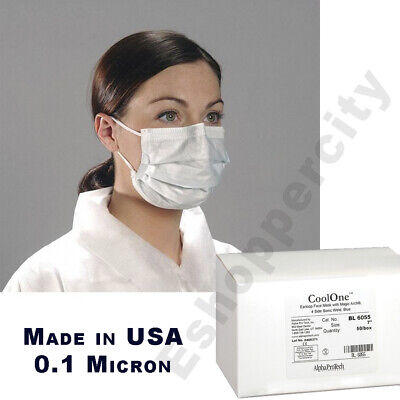 50 PCS Made In USA Disposable Face Mask Medical Surgical ASTM Level 1 Flu Germ