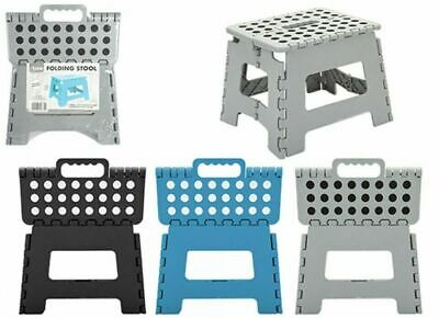 Wide Folding Foot Step Stool Multi Purpose Plastic Foldable Storage Home Kitchen