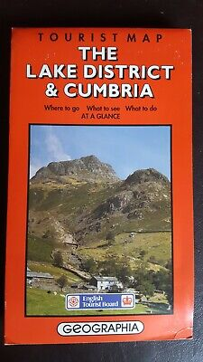 Tourist map (1989) - The Lake district and Cumbria
