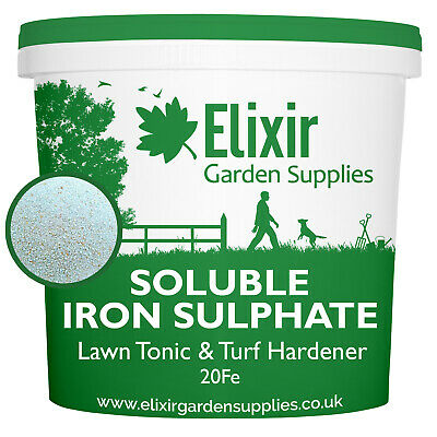 Moss Treatment Iron Sulphate Soluble Lawn Tonic Conditioner 20% Fe 5kg Tub
