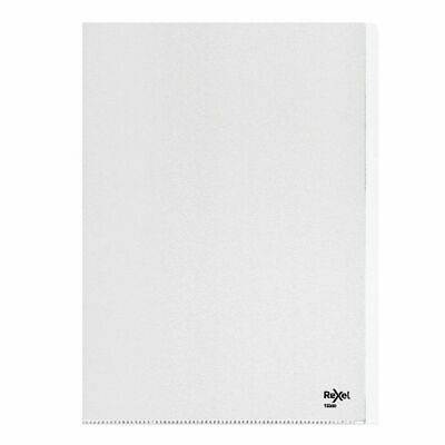 NEW! Rexel Nyrex Heavy Duty Folders A4 Clear Pack of 25 12300