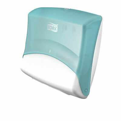 NEW! Tork Folded Wiper Cloth Dispenser W4 Turquoise and White 654000