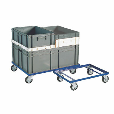 NEW! Blue 200kg Container Dolly 100mm Rubber Castors 321516