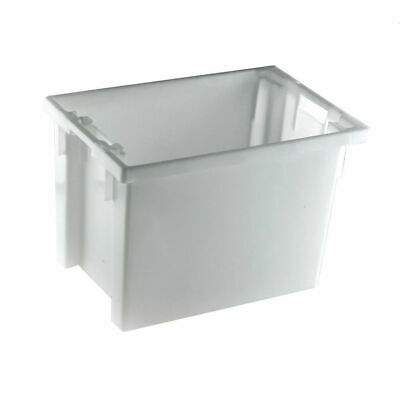 NEW! Solid Slide Stack/Nesting Container 600X400X400mm White 382970