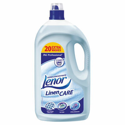 NEW! Lenor Linen Care Fabric Softener 4 Litre 5413149190955