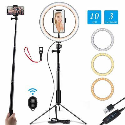 """Prtukyt 10"""" Ring Light with Tripod Stand Selfie Stick & Cell Phone Holder for"""
