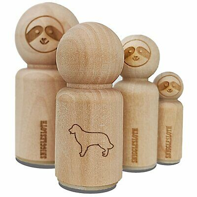 Golden Retriever dog portrait Rubber Stamp WM D8303