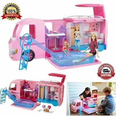 Barbie DreamCamper Adventure Camping Play Set with Storytelling Accessories NEW