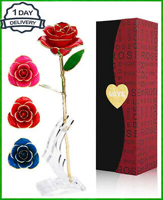 Luxury Gold Plated Real Rose Dipped in 24K Valentine's Day Girlfriend Gifts ❤️❤️
