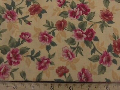 B568 By 1//2 Yd Green Red Yellow Quilting Kaufman//Zimmerman//Sweet Pickins//10734