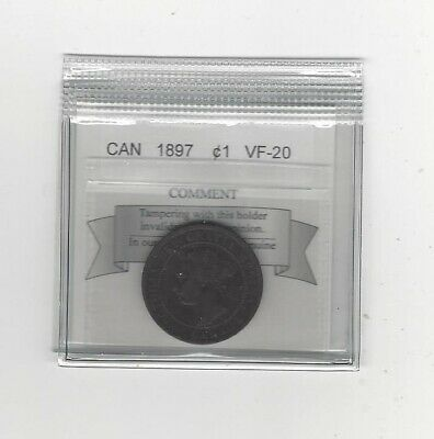 1897 Coin Mart Graded Canadian, Large One Cent, **VF-20**