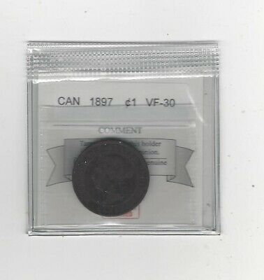 1897 Coin Mart Graded Canadian, Large One Cent, **VF-30**