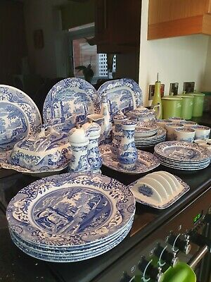 Spode Blue Italian Large Collection Dinner Set & More