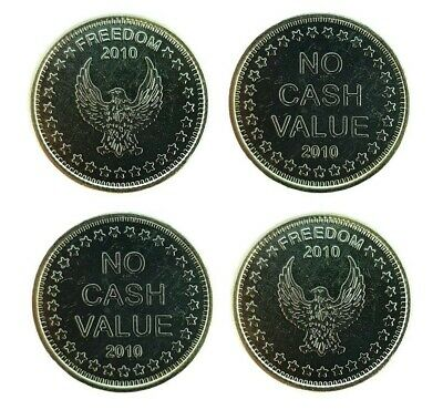 50x New L1 Eagle Freedom No Cash Value tokens for Sunbed Tanning Coin Meter