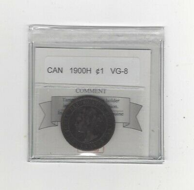 1900H Coin Mart Graded Canadian, Large One Cent, **VG-8**