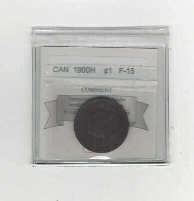 1900H Coin Mart Graded Canadian, Large One Cent, **F-15**