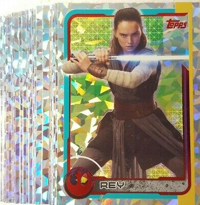JOURNEY TO STAR WARS THE LAST JEDI Holographic Foil Card set of 32 UK