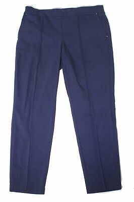 JM Collection Womens Pants Blue Size 16W Plus Mid-Rise Pull On Stretch $49 142
