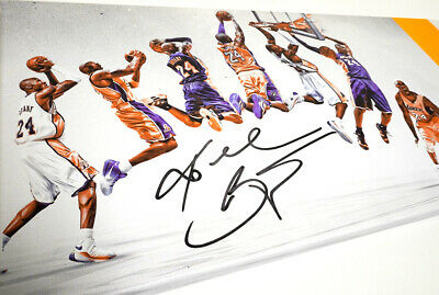 Kobe Bryant Poster Canvas Wall Art Print Reproduction Lakers Framed Signed