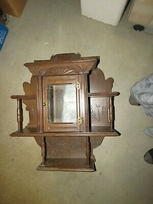 Rrdn           Victorian Wall Curio Cabinet Shelves - Nice Wood Carving