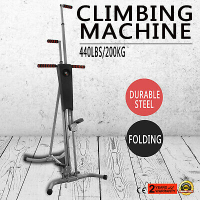 Climber Vertical Stepper Exercise Fitness w/ Monitor & Manual Sealed CA Stock
