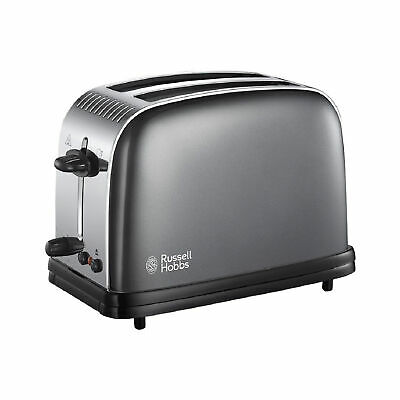 Russell Hobbs 23331 Colours Plus 2 Slice Toaster - Grey (with Fast Toasting*)