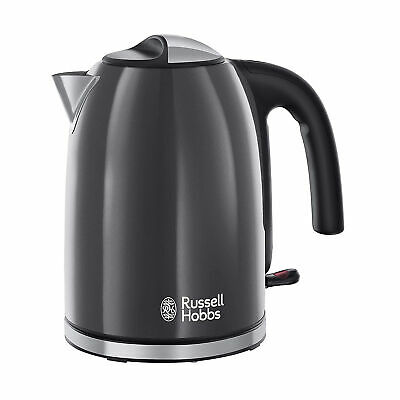 Russell Hobbs 20415 Colours Plus Kettle 3000W 1.7 Litre - Grey (with Rapid Boil)