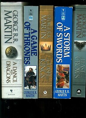 Lot of 5 books George R R Martin Game Of Thrones 1 - 5