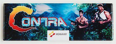 Contra Marquee FRIDGE MAGNET (1.5 x 4.5 inches) arcade video game header
