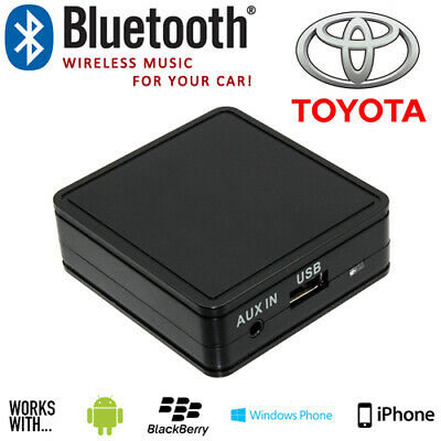 Toyota 2003> Car Bluetooth Music Streaming Aux Interface Adaptor For Smartphones