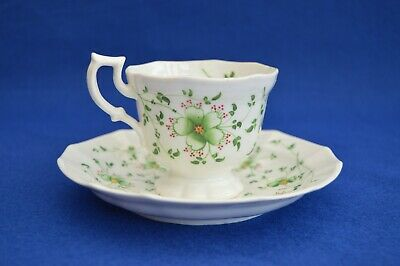 Antique Hand Painted Porcelain Cup & Saucer - Early 19th Century