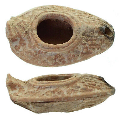 FORVM Late Roman-Byzantine Holyland Oil Lamp with Palm Frond 400-620 AD