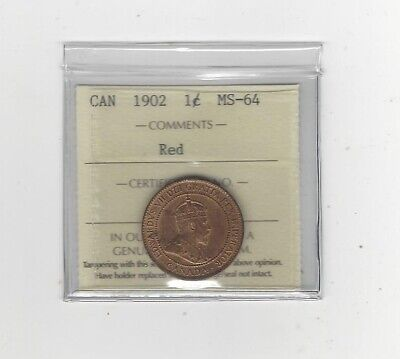 1902 ICCS Graded Canadian, Large One Cent, **MS-64**