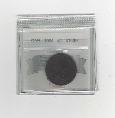 1904  Coin Mart Graded Canadian, Large One Cent, **VF-30**