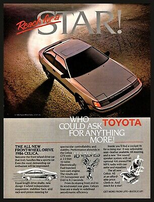 View 1986 Toyota Celica Classic Vintage Advertisement Ad D59 Performer