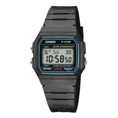 CASIO F-91W Digital LCD Watch with Chrono, Alarm 100% AUTHENTIC RETAIL PACKED