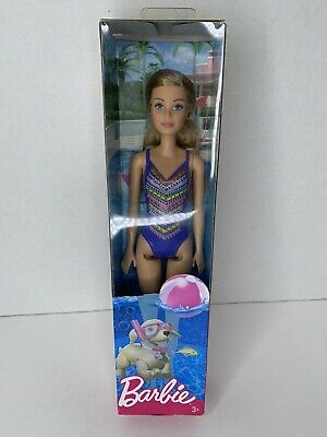 Blonde new in factory package Barbie Blue Swimwear Beach Doll