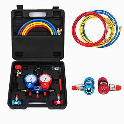 AC Diagnostic Manifold Freon Gauge Tool Kit for Refrigeration R22 R12 R134 R502