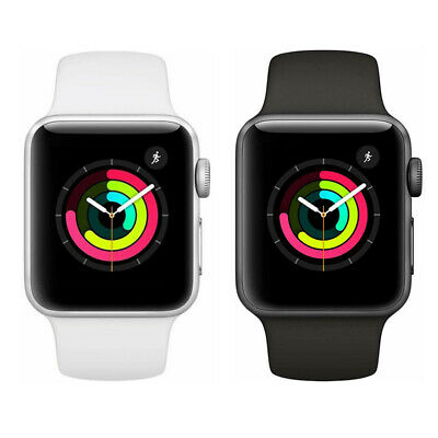 iWatch Series 3 (GPS, 38mm/42mm) - Silver/Space Gray Aluminium Case Sport Band