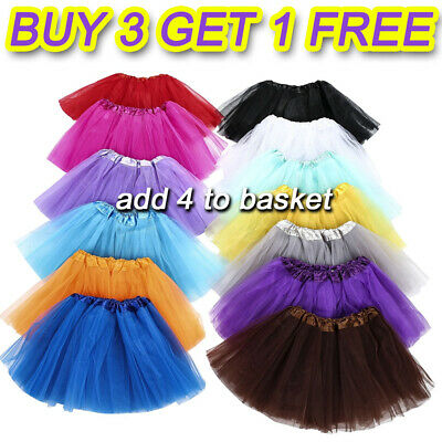 3 Layers Ladies High Quality Girls Kid Tutu Skirt Fancy Skirts Dresses Up Party