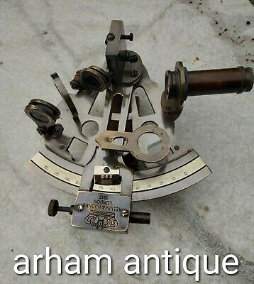 Nautical Solid Brass Marine Ship Instrument Working Sextant Gift & Table Decor