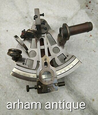 Antique Brass Working Sextant Marine Navigation Ship Instrument German Sextant