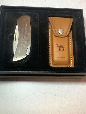 Camel Cigarettes Zippo Knife and Leather Holder New In Box
