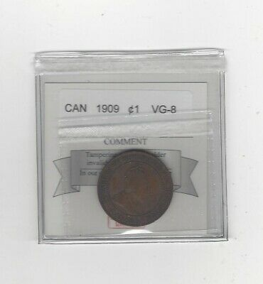 1909  Coin Mart Graded Canadian, Large One Cent, **VG-8**