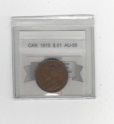 1915  Coin Mart Graded Canadian, Large One Cent, **AU-55**