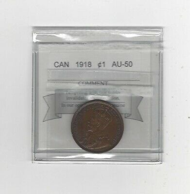 1918  Coin Mart Graded Canadian, Large One Cent, **AU-50**