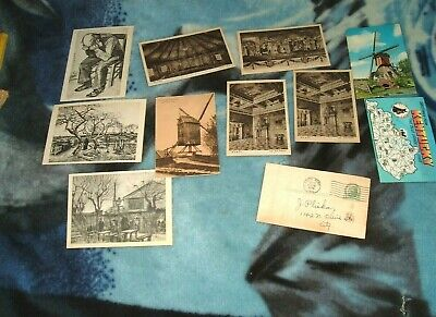 Vincent Van Gogh Postcards & other vtg postcards windmill kentucky & other