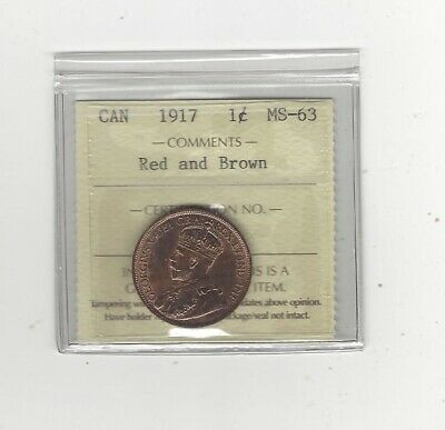 1917  ICCS Graded Canadian, Small One Cent, **MS-63**